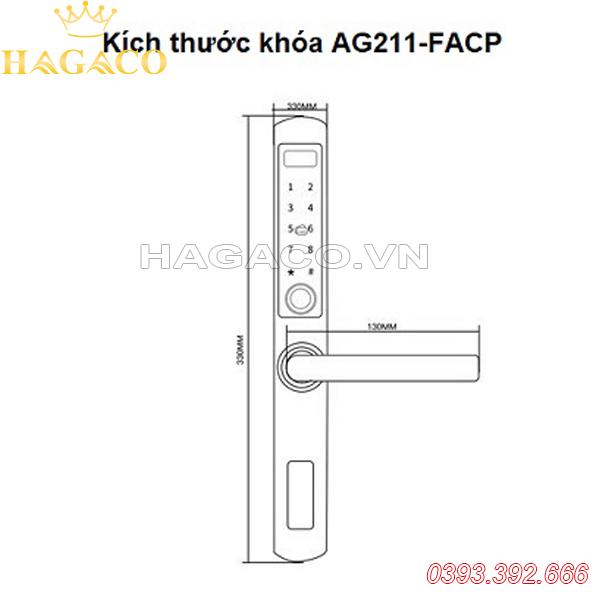 kích thước SSLock AG211-FACP