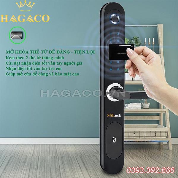 Khóa vân tay cửa nhôm SSLock AG3-FACP