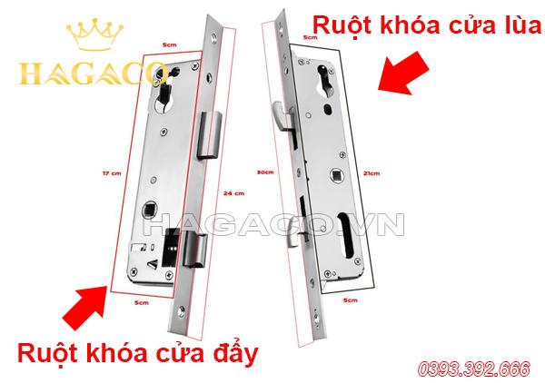 Mô tả lõi khóa (ruột khóa) cửa lùa