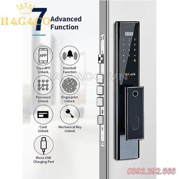Khóa cửa vân tay thông minh SSLock E102-FACP (có wifi)