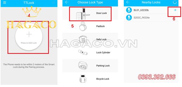 Thêm khóa cửa điện tử vào app TTLock