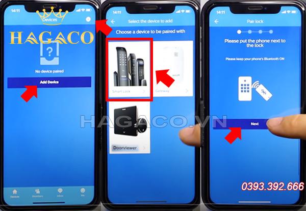 Hướng dẫn tìm thiết bị khóa Philips 9300